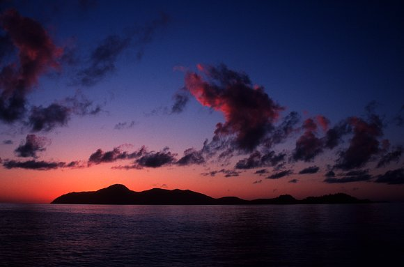 Sunrise over the Whitsunday islands.